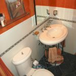 Bathroom remodel with toilet and sink